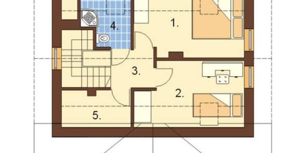 Plan mansarda casa frumoasa P+M
