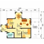 Plan parter casa P+M cu terasa acoperita