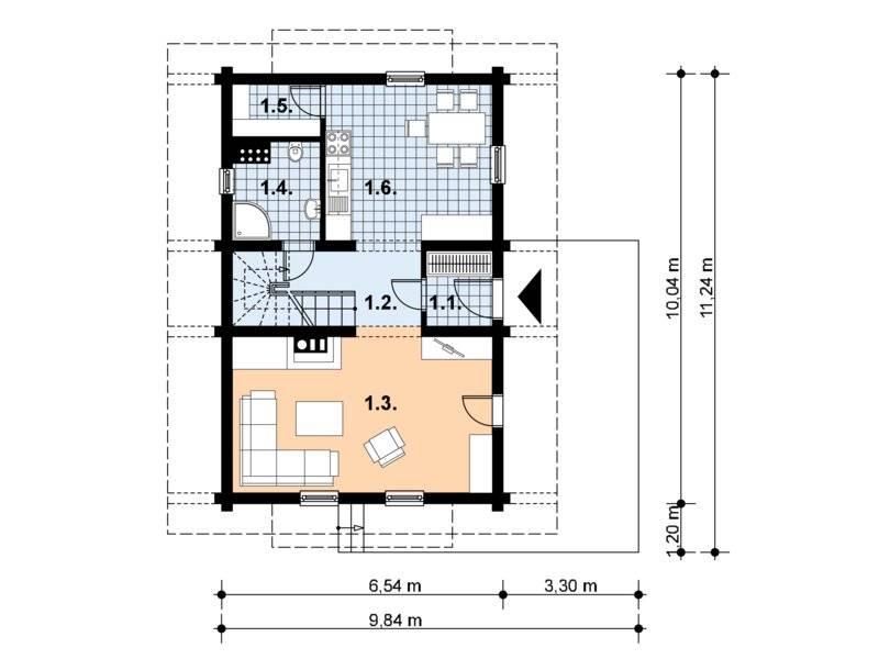Plan parter casa de vacanta