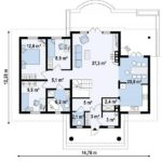 Plan parter casa eleganta cu 4 camere