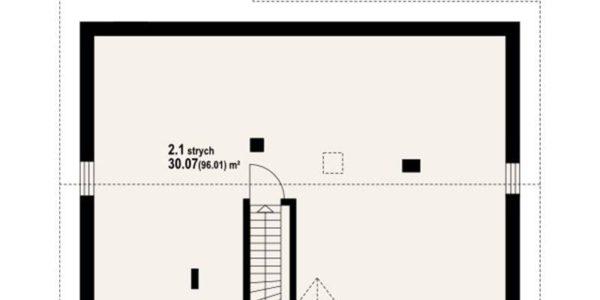 Plan pod casa cu 4 camere