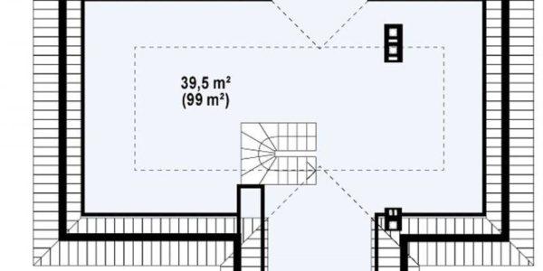 Plan pod casa eleganta cu 4 camere