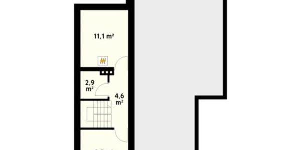 Plan pod casa moderna cu 4 camere