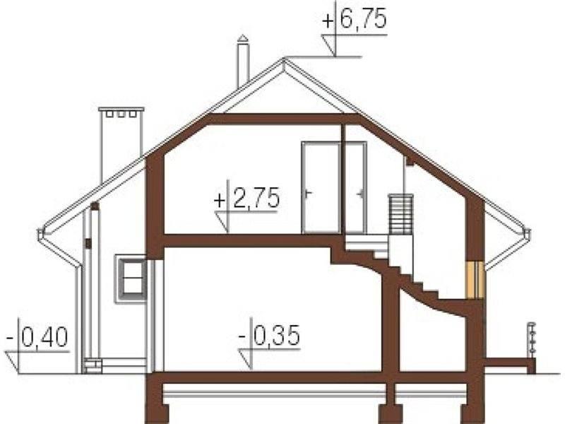 Plan vertical casa P+M