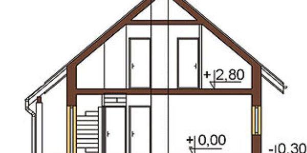 Plan vertical casa cu 3 dormitoare si 3 bai