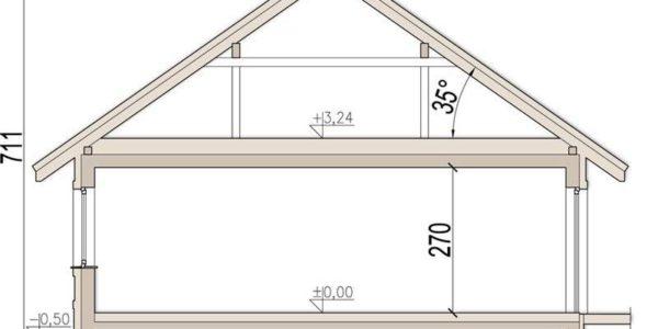 Plan vertical casa cu 4 camere