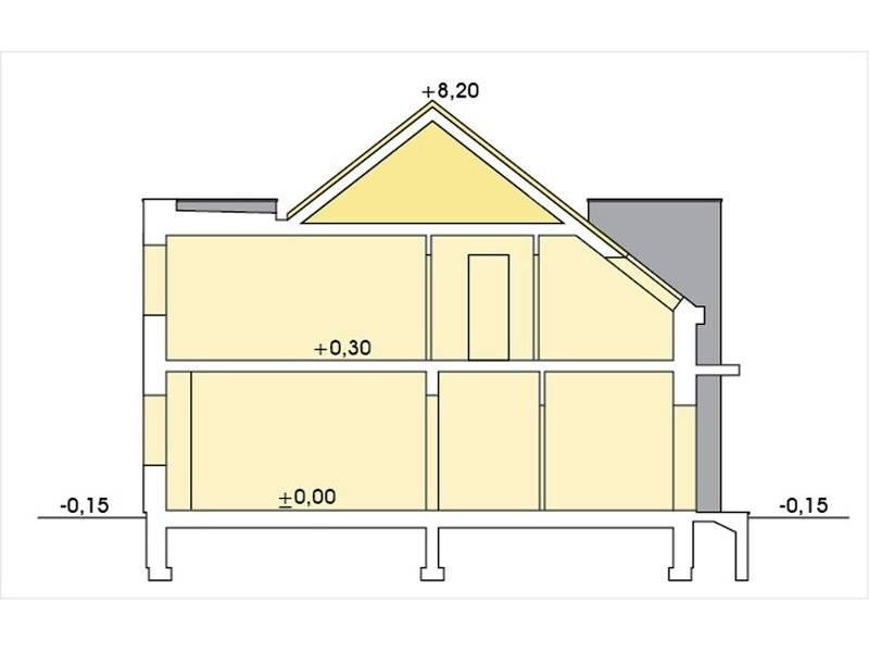 Plan vertical casa din complex