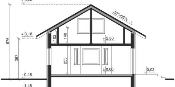 Plan vertical casa eleganta cu 3 dormitoare