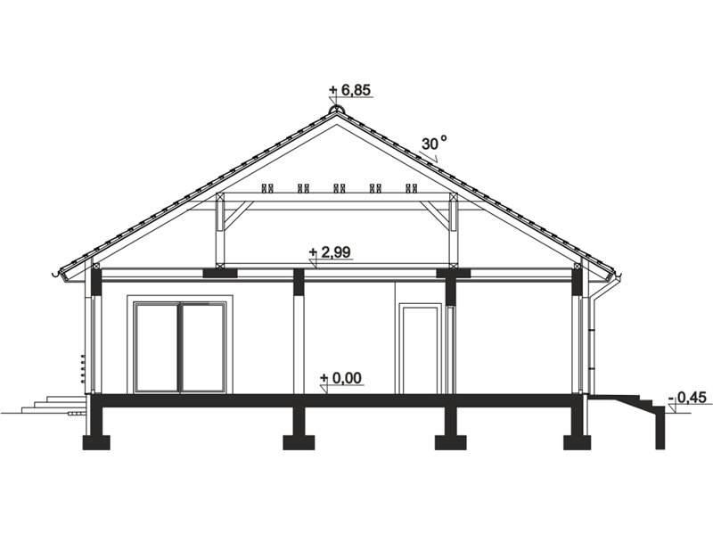 Plan vertical casa eleganta cu 4 camere