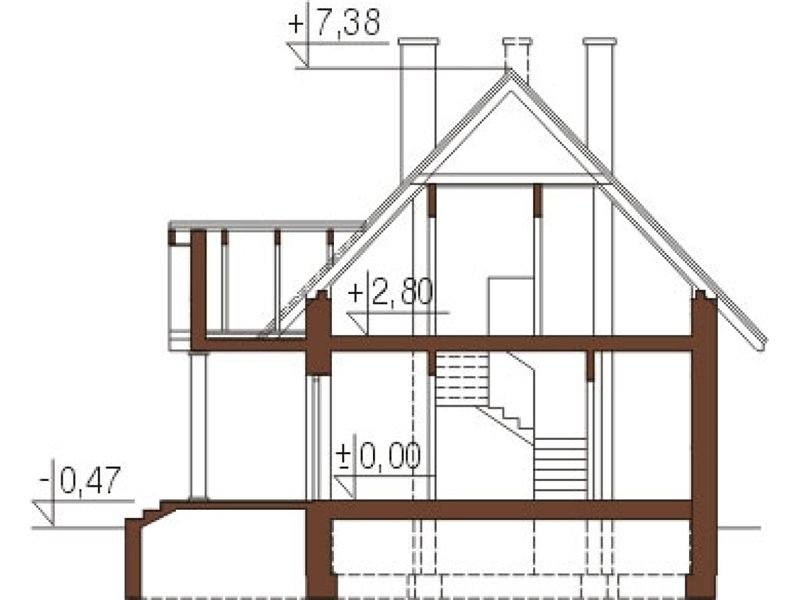 Plan vertical casa frumoasa P+M