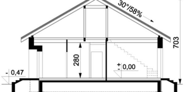 Plan vertical casa mica cu 4 camere