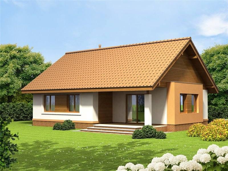 Proiect casa cu 4 camere fara etaj