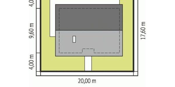 Suprafata teren casa cu 4 camere