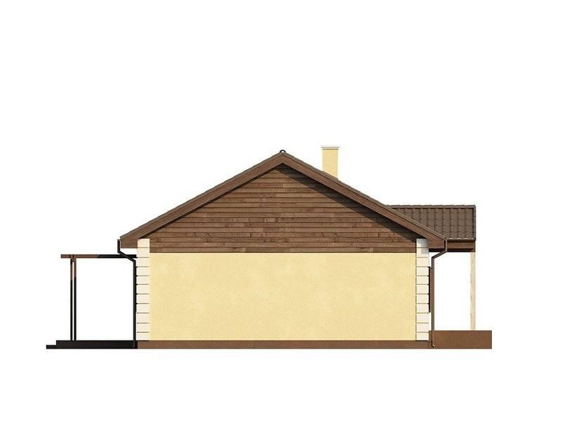 Vedere din laterala casa mica cu 4 camere