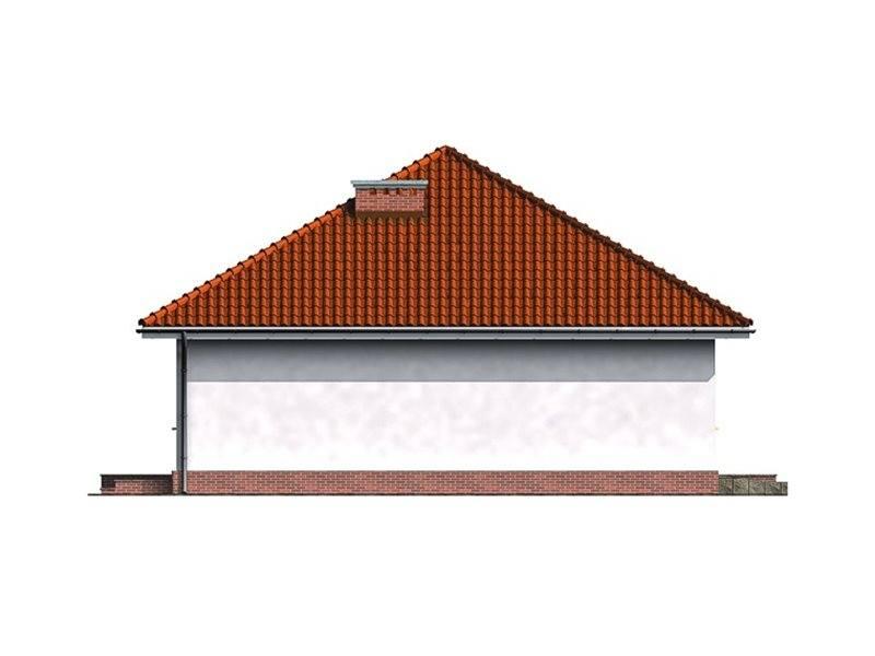Vedere dreapta casa cu 3 camere si garaj