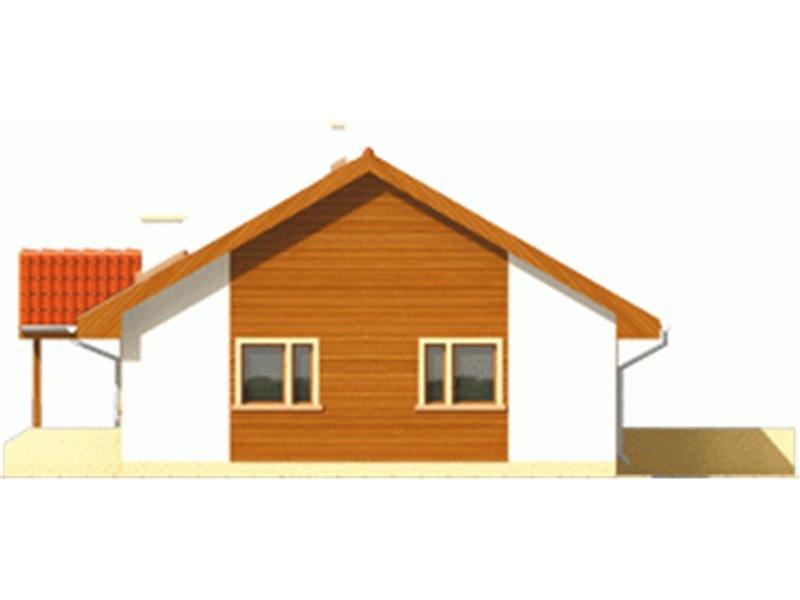Vedere dreapta casa cu 3 camere