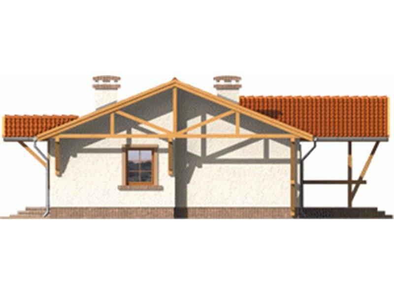 Vedere dreapta casa cu 3 dormitoare si 2 bai