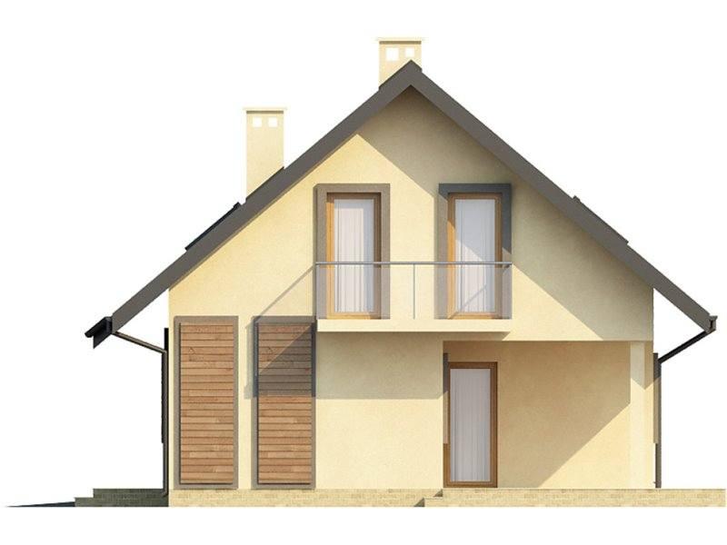 Vedere dreapta casa cu 3 dormitoare si 3 bai