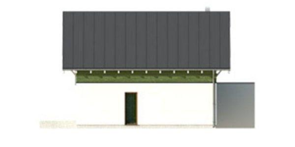 Vedere dreapta casa cu 3 dormitoare si garaj