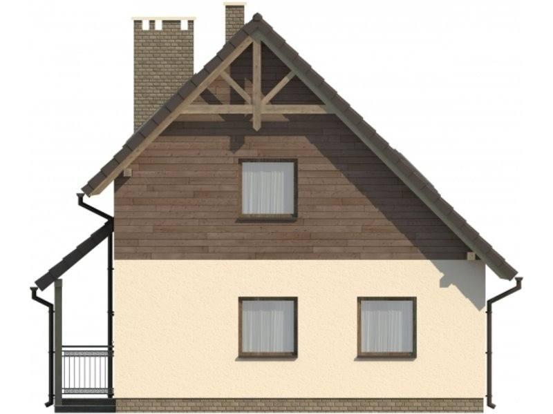 Vedere dreapta casa cu 4 camere