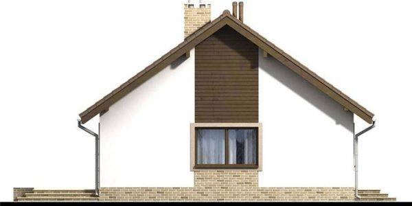 Vedere dreapta casa cu 4 camere la parter