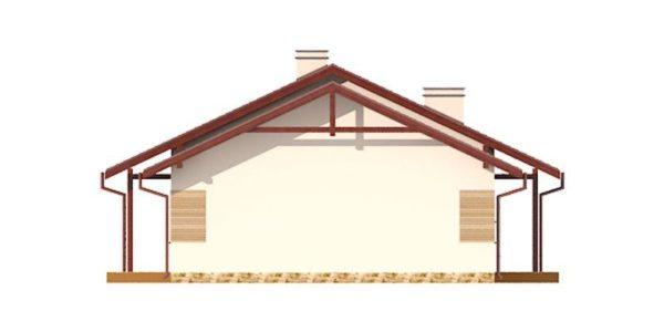 Vedere dreapta casa cu 4 camere si dependinte