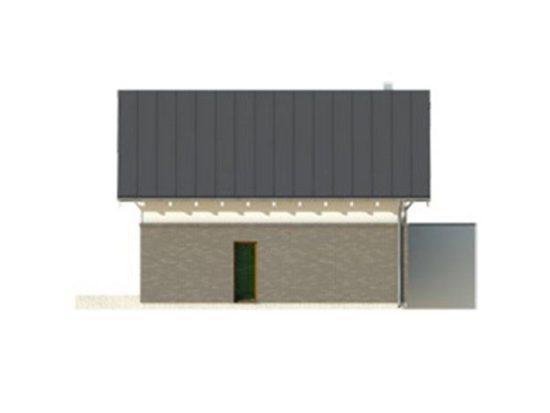 Vedere dreapta casa cu 4 camere si garaj
