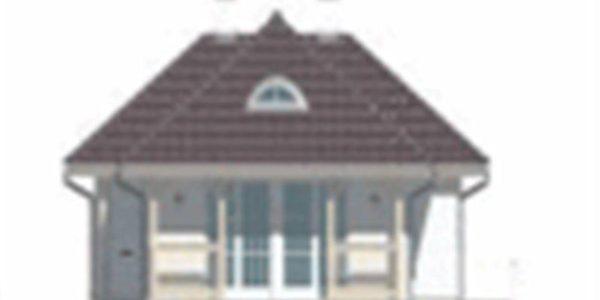 Vedere dreapta casa cu 4 camere si veranda