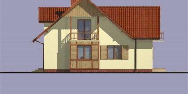Vedere dreapta casa cu 5 camere
