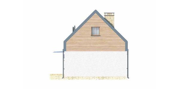 Vedere dreapta casa cu acoperis inalt
