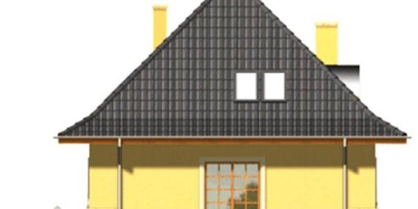 Vedere dreapta casa cu mansarda si garaj