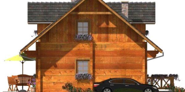 Vedere dreapta casa de vacanta din lemn