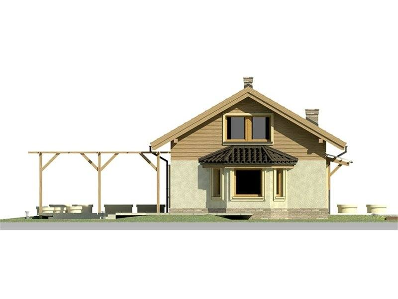 Vedere dreapta casa eleganta cu 3 dormitoare