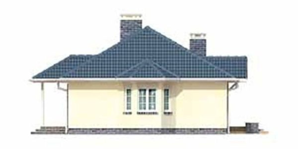 Vedere dreapta casa familiala cu 4 camere