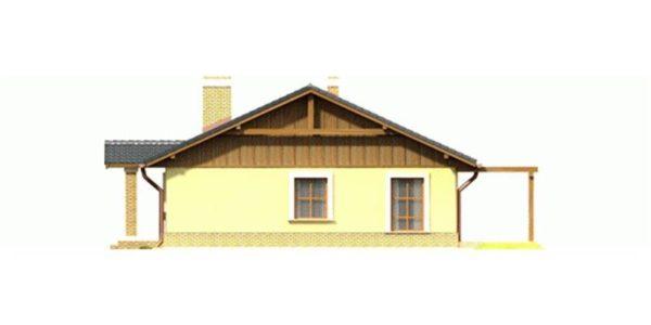 Vedere dreapta casa fara etaj