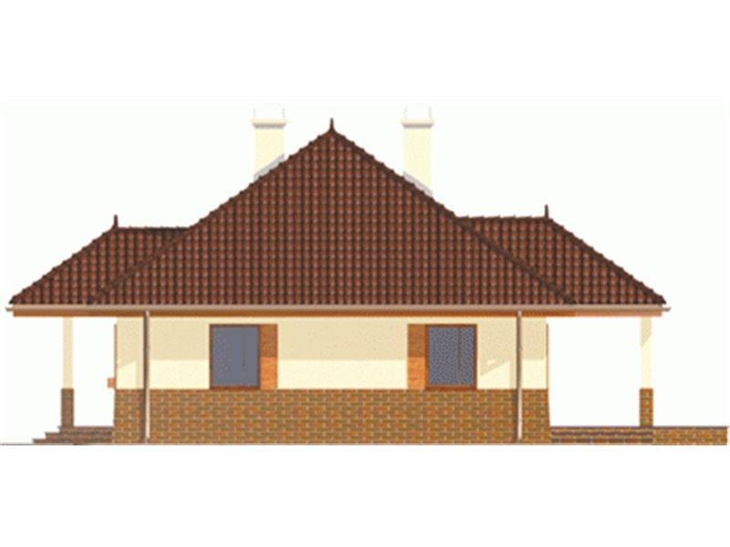 Vedere dreapta casa mica cu 4 camere