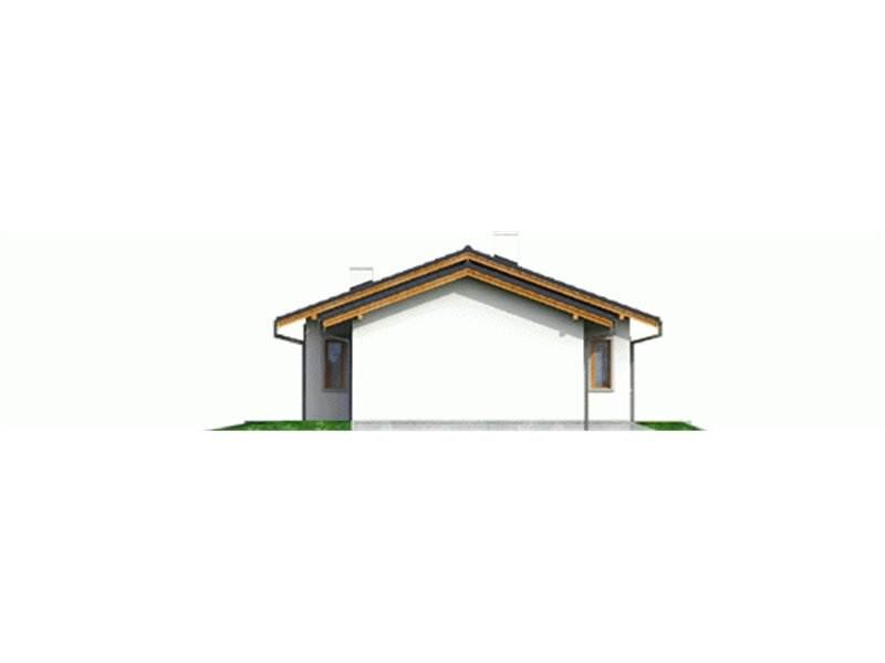 Vedere dreapta casa mica cu 4 camere si garaj