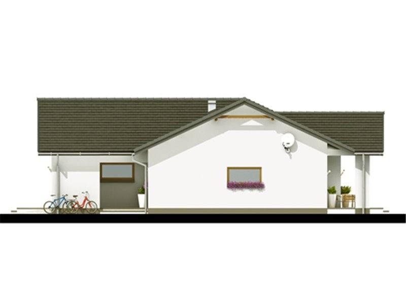Vedere dreapta casa mica cu garaj