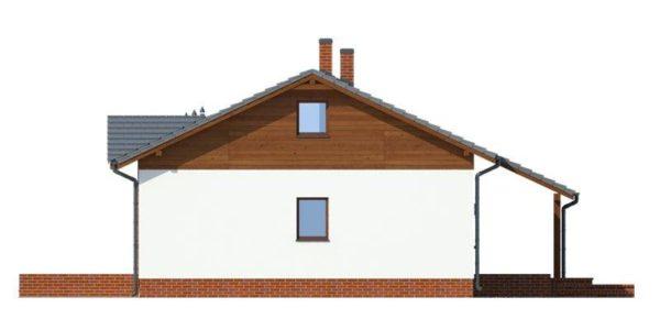 Vedere dreapta casa mica cu pod