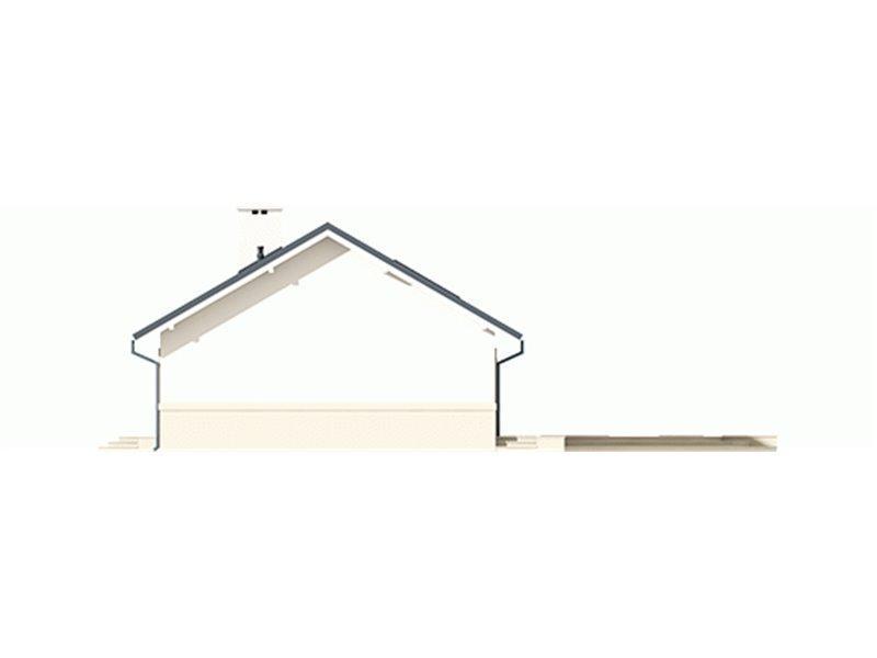 Vedere dreapta casa mica cu terasa