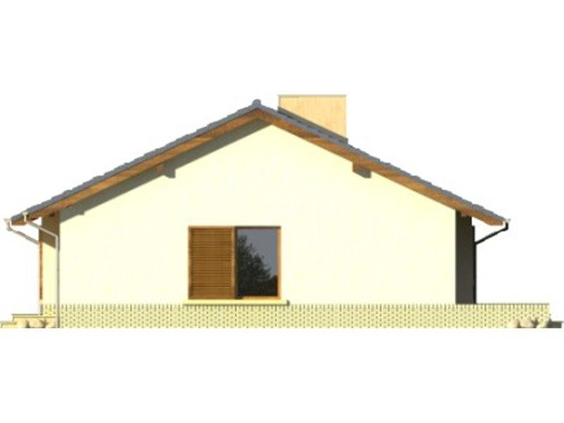 Vedere dreapta casa mica doar cu parter