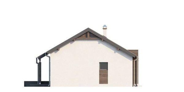 Vedere dreapta casa mica moderna