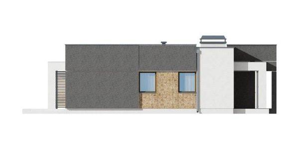 Vedere dreapta casa moderna cu 3 camere