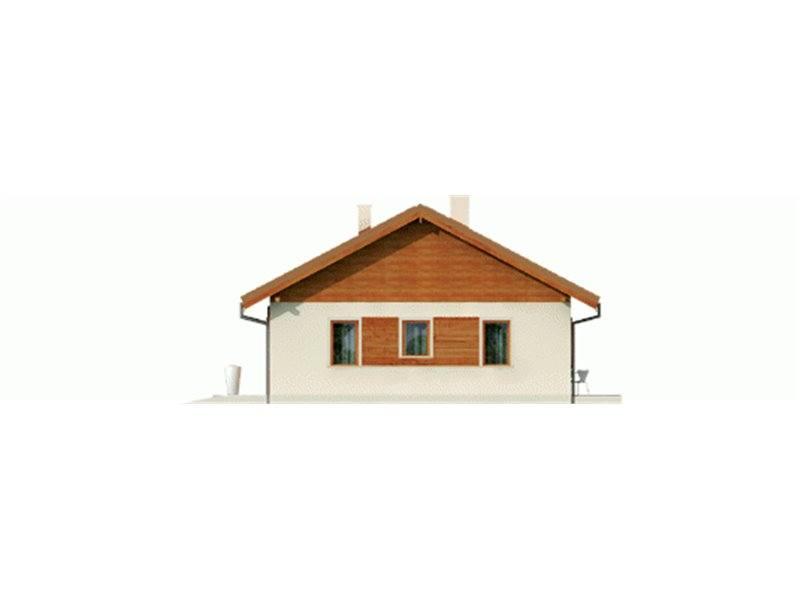 Vedere dreapta casa parter cu 3 camere