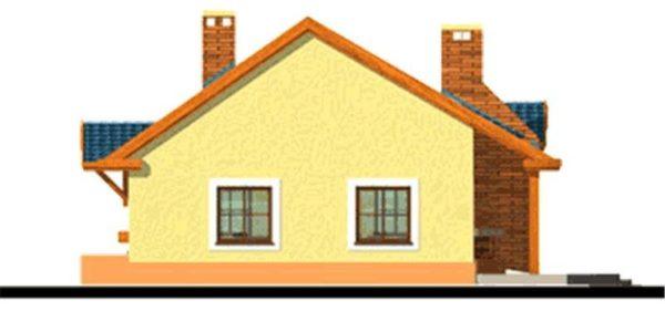 Vedere dreapta casa parter cu 4 camere