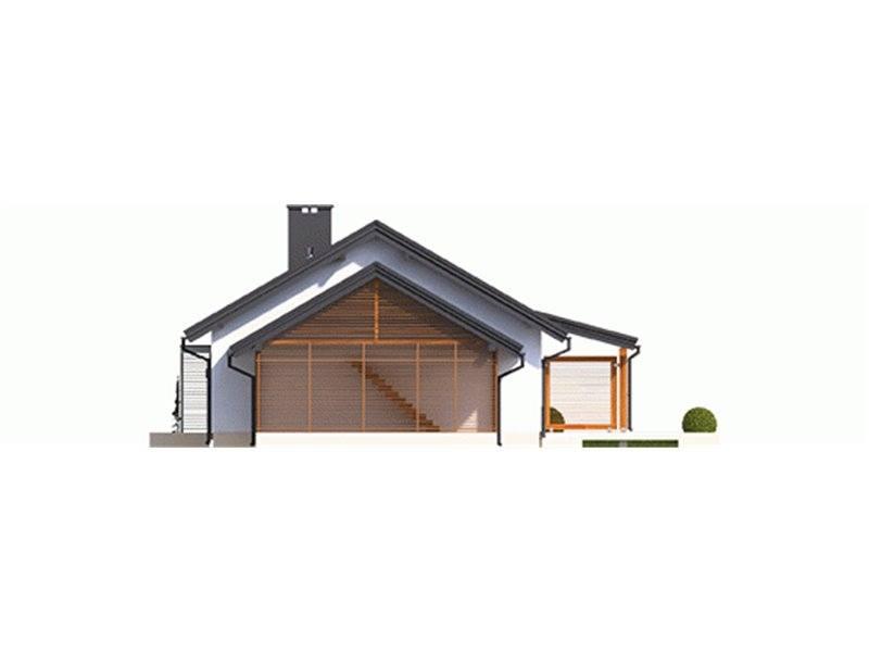 Vedere dreapta casa parter cu garaj