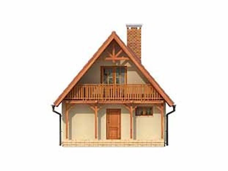Vedere fata casa cu 2 balcoane