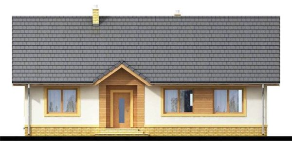 Vedere fata casa cu 3 dormitoare