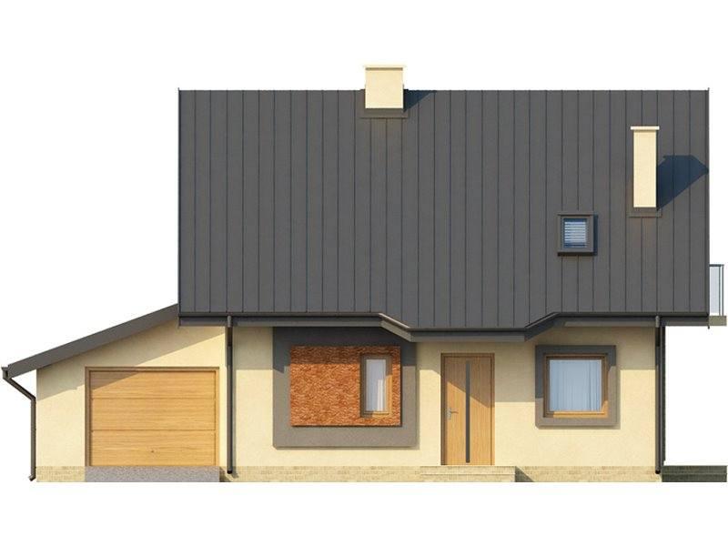 Vedere fata casa cu 3 dormitoare si 3 bai