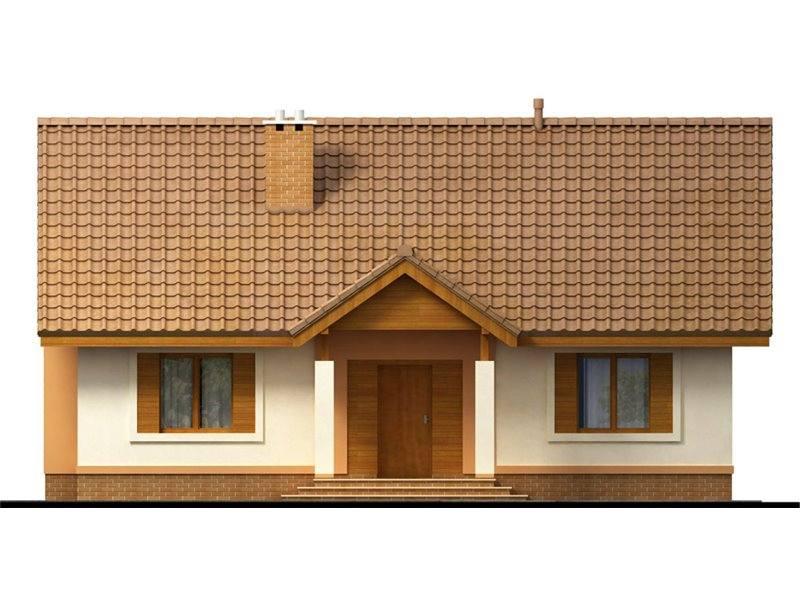 Vedere fata casa cu 3 dormitoare si living